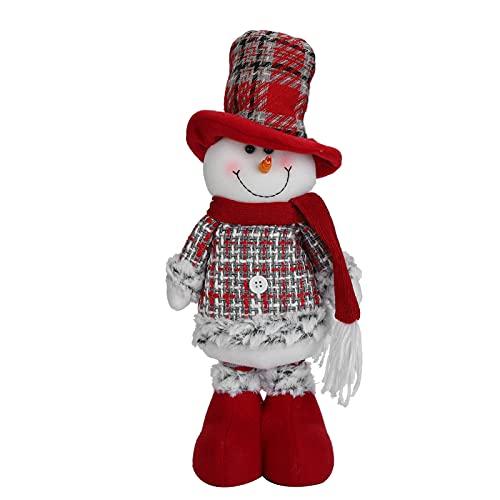 Pelúcia de Natal, Bonecos de neve Decorações de Natal com 12 cm / 4,7 de altura telescópica para presentes para decorações de Natal(boneco de neve)