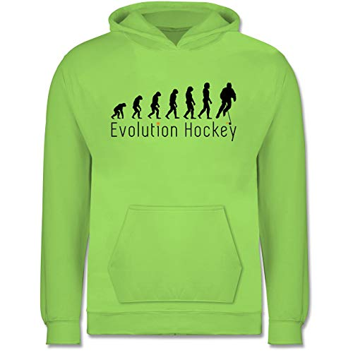 Shirtracer Evolution Kind - Evolution Hockey - 152 (12/13 Jahre) - Limonengrün - Hockey Evolution - JH001K - Kinder Hoodie
