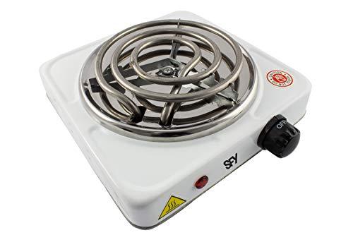 SFY Cocina eléctrica para Shisha cachimba - Hornillo para encender carbón - Placa de Fuego para cocinar - 1000W (Blanco)
