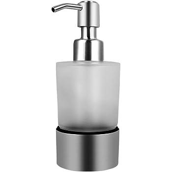 Bagno Supporto per Bicchiere Supporto per Sapone Portasapone Erogatore WC Acciaio Inossidabile Ambrosya/® Spazzolato Distributore di Sapone Esclusivo in Acciaio Inossidabile