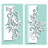 2pcs Metal Die Cuts,Lace Bird Butterfly Dragonfly Metal Cutting Dies Stencils DIY Invitation Scrapbook Embossing Album Paper Photo Craft for Card Making Mould Mold Template