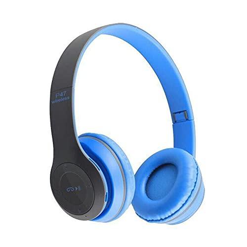 Auriculares inalámbricos Auriculares Plegables Auriculares estéreo Bajos con micrófono Auriculares con Adaptador 5.0 USB compatibles con Bluetooth