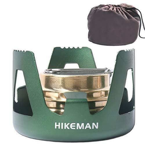 Hikeman Spirit Burner Lightweight Backpacking - Brass Ultra-Light Alcohol...