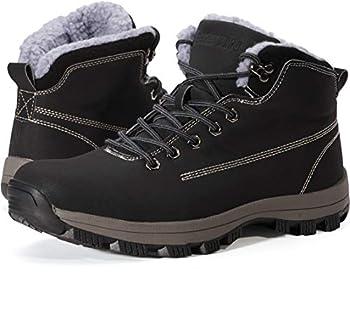 WHITIN Men s Winter Snow Boots for Construccion Work Zapatos Waterprof Waterproof Warmer Botas de invierno Nieve Botines para Hombre Trabajo Black Size Casual 14