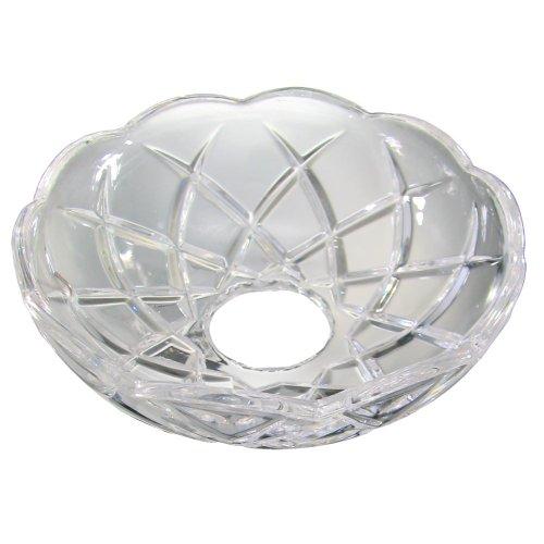 Lichtschale~ Bobeche Ø100mm Bleikristall mit 5 Seitenringe Chrom ~ Kronleuchter Lüster