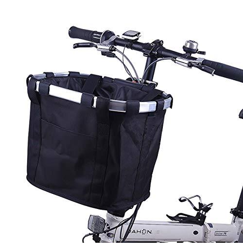 COEWSKE Cesta de Bicicleta Plegable Extraíble Delantero Bicicleta de Manillar Cesta Cesta...