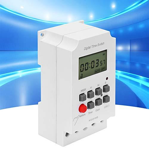 Interruptor de tiempo digital, temporizador programable digital resistente a la corrosión 50-60Hz Hecho de batería de litio plástica CE2450 3V