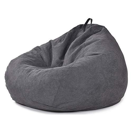 LDIW Copertura per Pouf, Fodere da Divano Copertura per Poltrona a Sacco Pouf Cover Puff Fodera Copri Bean Bag,Starblack,100x120cm