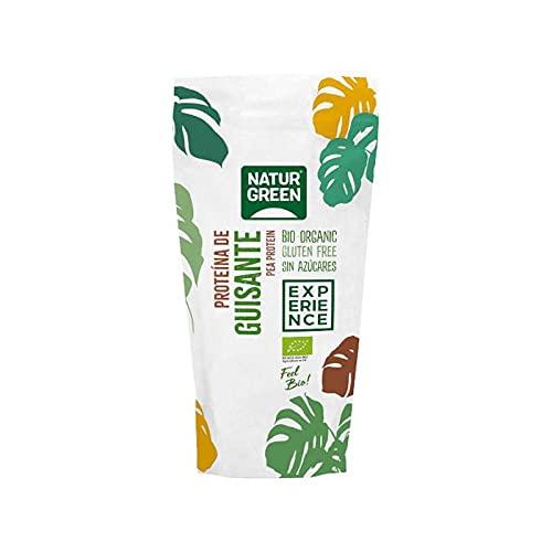 NaturGreen - Proteína de Guisante BIO - Concentrado de proteína ecológica, Superalimento, Texturizado, 100% Vegano, Bolsa Doy-Pack - 250 g