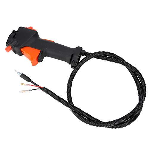 Interruptor de manija Conjunto de cable de gatillo del acelerador Apto para recortadora Cortadora de cepillo Accesorios para cortacésped Interruptor de control universal Kit de manija de palanca