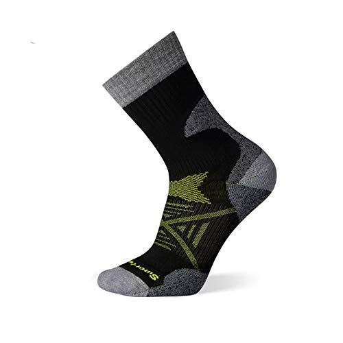 Smartwool Men's PhD Pro Outdoor Crew Light Merino Wool Socks, Black, Large
