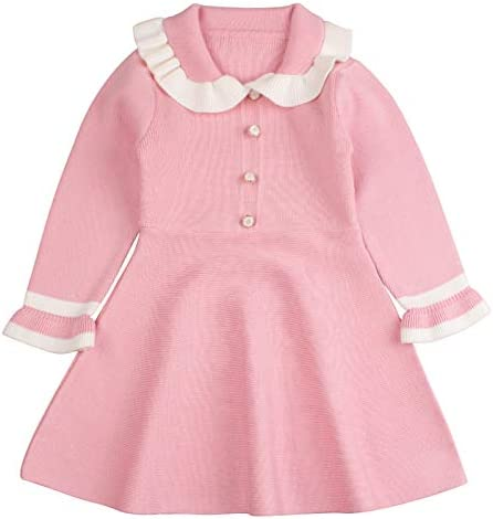 Ruffles Baby Girls Cardigan Warm Infant Toddler Sweater Dress Girls Long Sleeve V Neck Cardigans product image