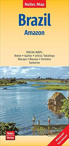 Nelles Map Landkarte Brazil: Amazon: 1:2.500.000 | reiß- und wasserfest; waterproof and tear-resistant; indéchirable et imperméable; irrompible & impermeable (Nelles Map: Strassenkarte)
