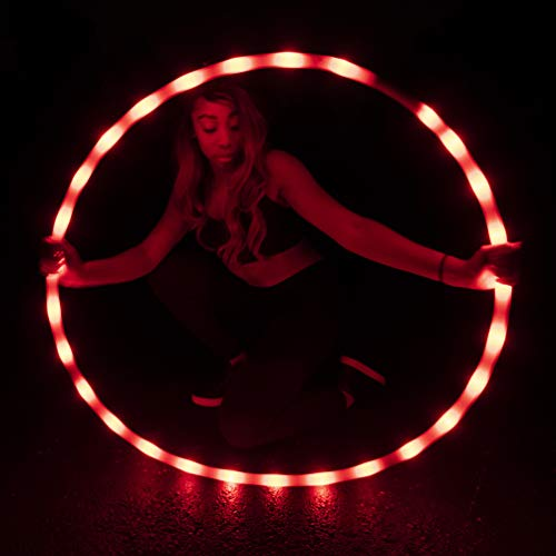 GlowCity Light-Up LED Hoola Hoop – 36 inch Glow-in-The-Dark Fitness...