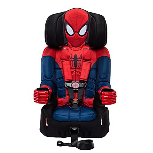 KidsEmbrace 2-in-1 Harness Booster Car Seat, Marvel Spider-Man , Black