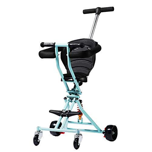 Bébé GUO@ Tricycle pour Enfants Portable Glissant Artefact Pliable Poussette 1-3 Ans Porte Chariot d'enfant
