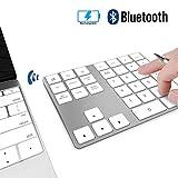 Pavé Numérique sans Fil Bluetooth Rechargeable 34 Touches Extension pour Entrée de...