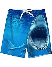 TUONROAD Niño Bañador Natación 3D Secado Rápido Ropa de Playa Hawaiano Pantalones Cortos con Bolsillos Laterales 5-16 Años