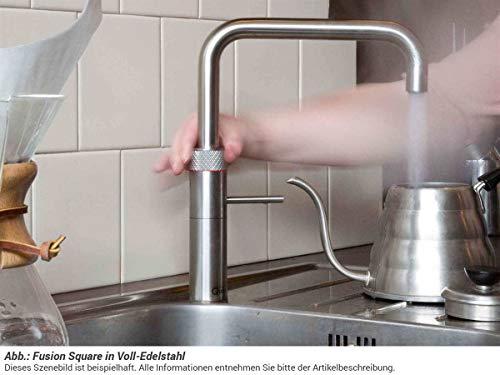 Quooker COMBI+ 2.2 Fusion Square Kochendwasserhahn / Kochendwasser-Armatur & Mischbatterie / verchromt glänzend CHR - 2