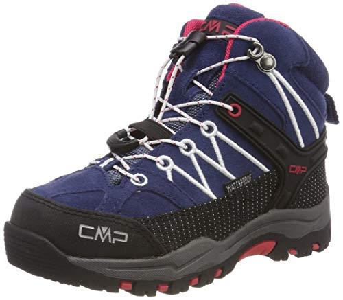 CMP Unisex-Kinder Rigel Mid Trekking-& Wanderstiefel, Blau (Marine-Corallo 36mc), 30 EU