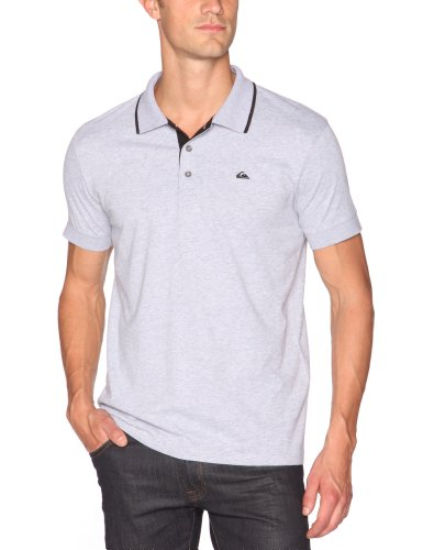 Quiksilver Push It-KPMJE172 Polo à manches courtes homme Light Grey Heat XL