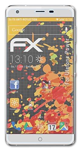 atFolix Panzerfolie kompatibel mit Ulefone Power Schutzfolie, entspiegelnde & stoßdämpfende FX Folie (3X)