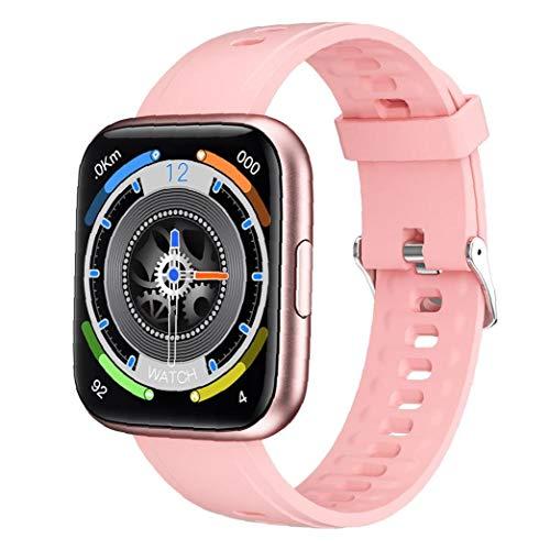 NiceJoy Reloj Inteligente Seguimiento dinámico Impermeable 1.69 Pantalla Completa, con Control de la música podómetro, Compatible con iPhone Android Rosa