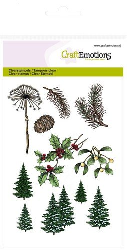 CraftEmotions clearstamps A6 - Weihnachtsbaum, Zweige Christmas Nature