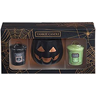 Customer reviews Yankee Candle Official Halloween Pumpkin Head Votive Holder Box Set Includes 2 Rare Samplers:Amedama