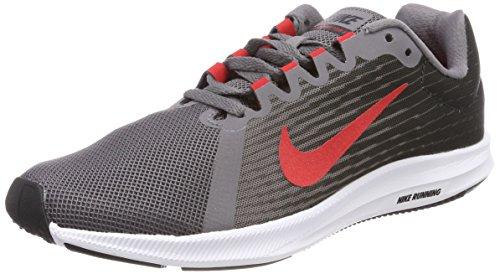 Nike Herren Downshifter 8 Laufschuhe, Grau (Anthracite/speed Red/gun Smoke/black/white 005) , 42 EU