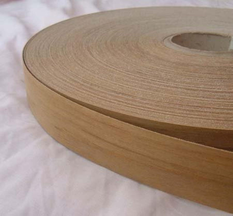 Pre Glued Iron on Teak Wood Veneer Edging Tape 50mm wide ...Free Postage 5,10,25,50 metre rolls available