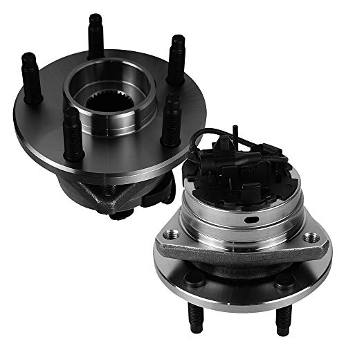Autoround 513214 Pair Front Wheel Hub and Bearing Assembly Fit for Chevy Malibu 04-12, Cobalt/HHR 08-10, Pontiac G6 05-10, Saturn Aura 07-09, 5-Lug w/ABS Set of 2