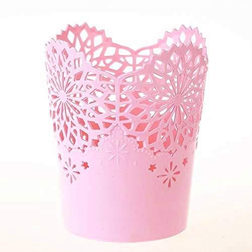 Cosanter - Maceta hueca de plástico con diseño tipo encaje para deco