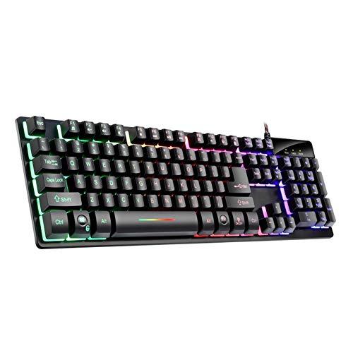 KK Zachary Tastatur Gaming-Tastatur, LED-Hintergrundbeleuchtung 104-Key Anti-Ghosting Wired Mechanische Tastatur Für PC/Mac-Gamer
