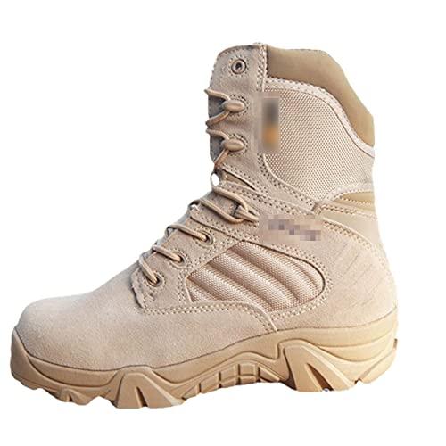 Invierno Militar ejército botas tácticas para los hombres de cuero de vaca impermeable punta redonda zapatos de trabajo combate desierto tobillo arranque