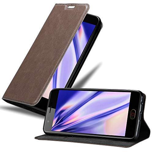 Cadorabo Hülle für ZTE Nubia M2 in Kaffee BRAUN - Handyhülle mit Magnetverschluss, Standfunktion & Kartenfach - Hülle Cover Schutzhülle Etui Tasche Book Klapp Style