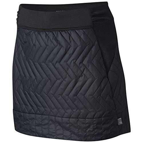 Mountain Hardwear Womens Trekkin Insulated Wind-Resistant Mini Skirt for Outdoor Activities and Running - Black - Large
