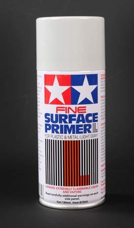 Radiokontrol Tamiya 87064 Fine Primer Spray L Grigio Chiaro 180 ml x plastica