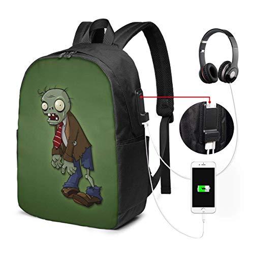 Plants Vs. Zombies Laptop Bapa- con puerto de carga USB/elegante bapas casual impermeable se adapta a la mayoría de portátiles y tabletas