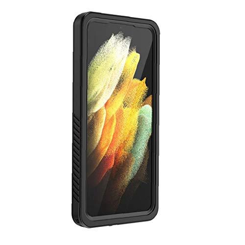 La caja del teléfono es compatible con el Ultra cubierta Samsung S21 6.8 pulgadas, con un sistema incorporado en el protector de pantalla, el cuerpo entero transparente resistente al agua almohadilla