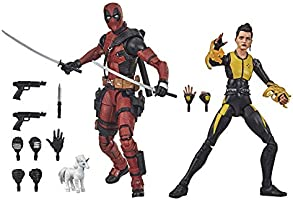 Hasbro Marvel Legends Series - Figuras premium coleccionables de Deadpool y Negasonic Teenage Warhead - 15 cm - con 13...