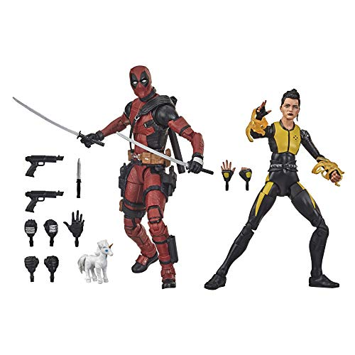 Marvel Hasbro Design und 13 Accessoires Legends Series X-Men 15 cm große Deadpool und Negasonic Teenage Warhead Action-Figuren