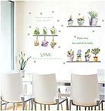 Planta en maceta pegatinas de pared dormitorio refrigerador pegatinas gratis decoración de fondo pegatinas extraíbles papel tapiz 50 * 70 CM
