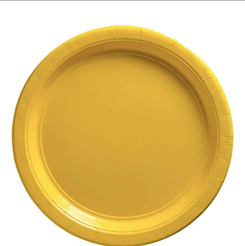 Big Party Pack Paper Plates | 9' | Sunshine Yellow | Pack of 50 | Party Supply