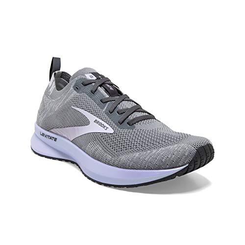 Brooks Levitate 4 Running Shoe Grey/Blackened Pearl/Purple 9.5 B (M)