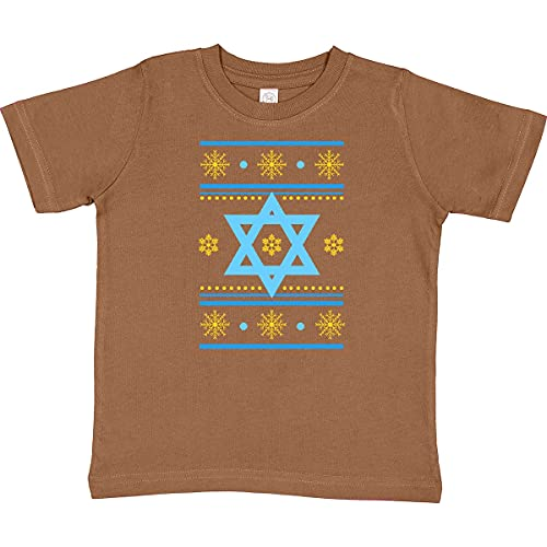 inktastic Hanukkah Ugly Sweater Toddler T-Shirt 4T Coyote Brown 2d89e