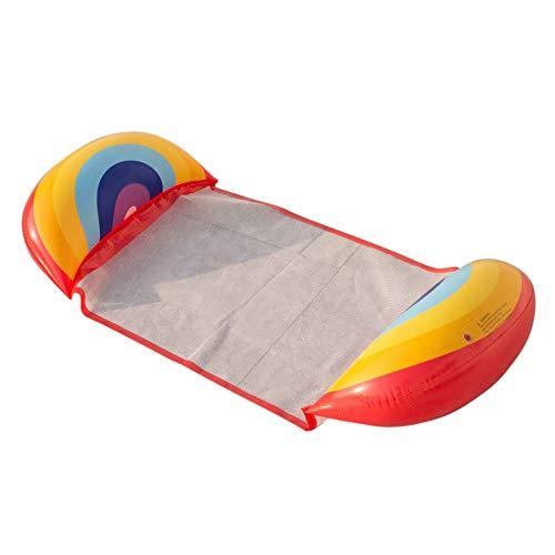 Haihui Hamaca hinchable 4 en 1, colchón de aire ultracómodo, cama flotante de agua para adultos y niños