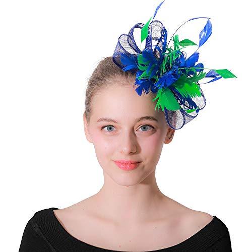 Jklj Pince à Cheveux Coiffe De Plumes Cocktail Party Chapeau à Plumes Fascinée Bandeau Net Flower Hairpin Rétro