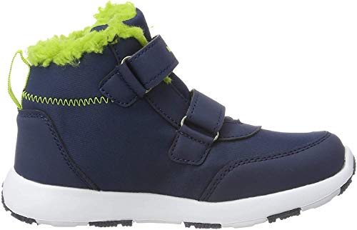 KangaROOS Snowdrifter Unisex Baby Sneaker, Blau (Dark Navy/Lime 4054), 23 EU