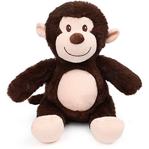 LotFancy 8quot Monkey Stuffed Animal Soft Cuddly Stuffed Monkey Cute Stuffed Animal Plush Toy for Kids Great Birthday Christmas Thanksgiving Gift for Toddlers Newborn Registry or Baby Shower